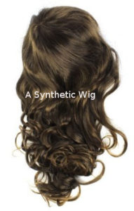 A Synthetic Hair Wig is cheaper, but cannot be coloured easily